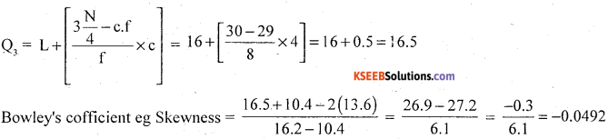1st PUC Statistics Model Question Paper 1 with Answers - 31