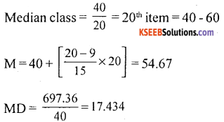 1st PUC Statistics Model Question Paper 1 with Answers - 45