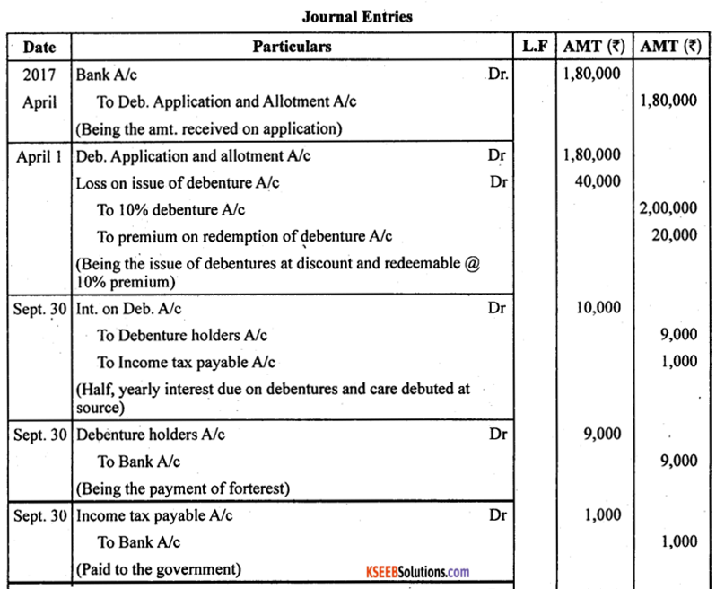 2nd PUC Accountancy Model Question Paper 2 with Answers - 23