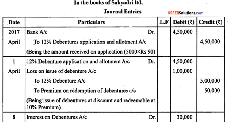 2nd PUC Accountancy Previous Year Question Paper June 2019 - 25