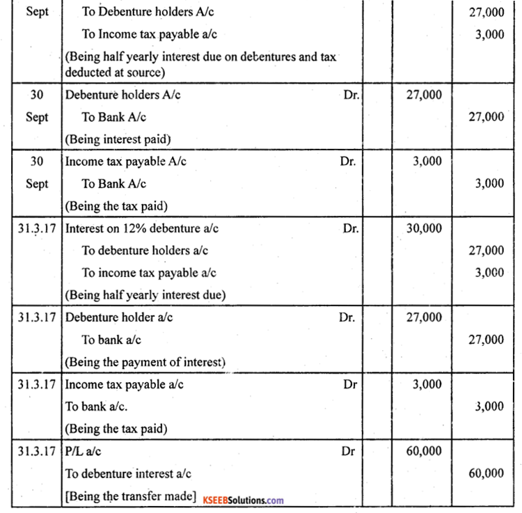 2nd PUC Accountancy Previous Year Question Paper June 2019 - 26