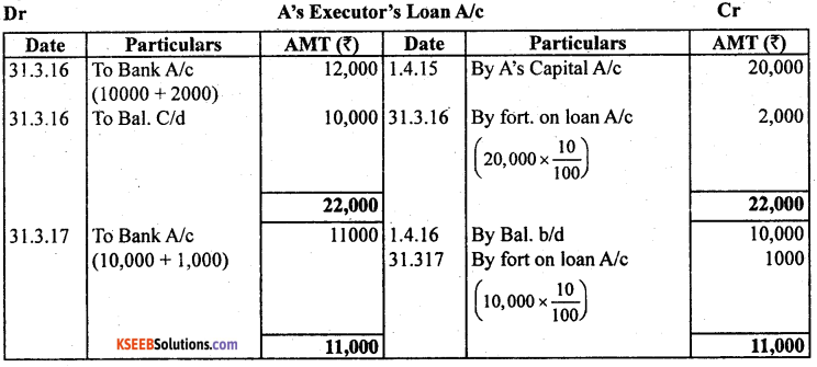 2nd PUC Accountancy Previous Year Question Paper March 2019 - 38