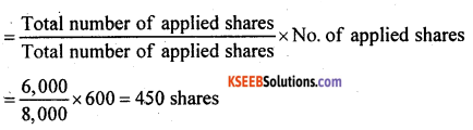 2nd PUC Accountancy Question Bank Chapter 1 Accounting for Share Capital - 38
