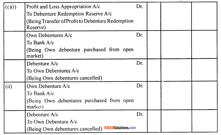 2nd PUC Accountancy Question Bank Chapter 2 Issue and Redemption of Debentures - 63