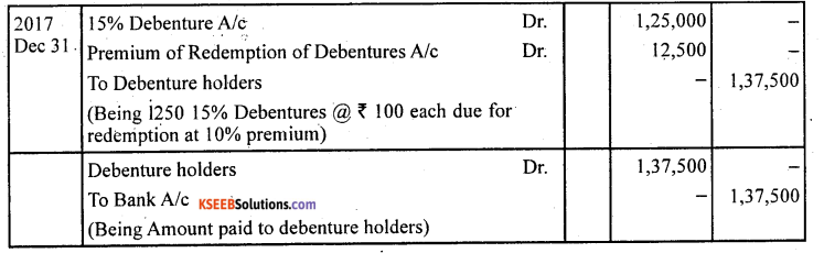 2nd PUC Accountancy Question Bank Chapter 2 Issue and Redemption of Debentures - 67
