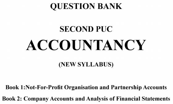 2nd PUC Accountancy Question Bank with Answers