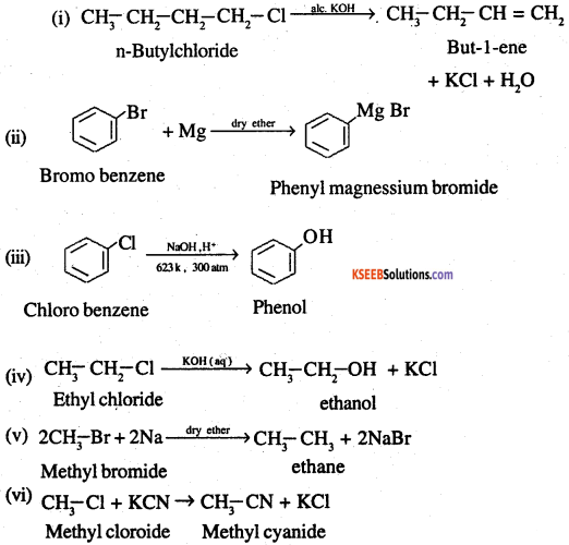 2nd PUC Chemistry Question Bank Chapter 10 Haloalkanes and Haloarenes - 51