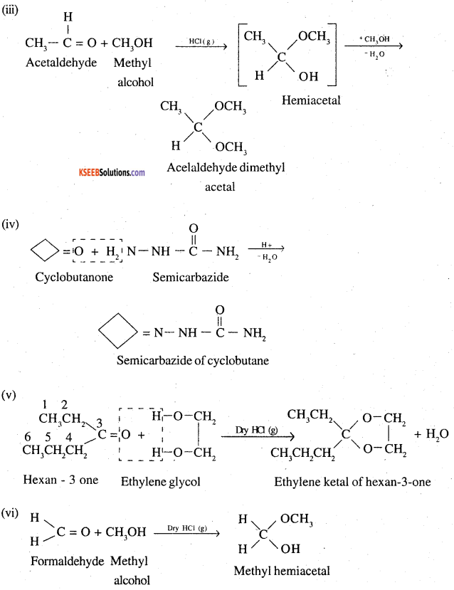 2nd PUC Chemistry Question Bank Chapter 12 Aldehydes, Ketones and Carboxylic Acids - 19
