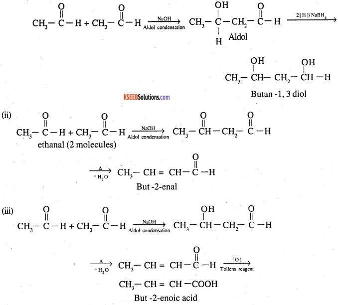 2nd PUC Chemistry Question Bank Chapter 12 Aldehydes, Ketones and Carboxylic Acids - 28