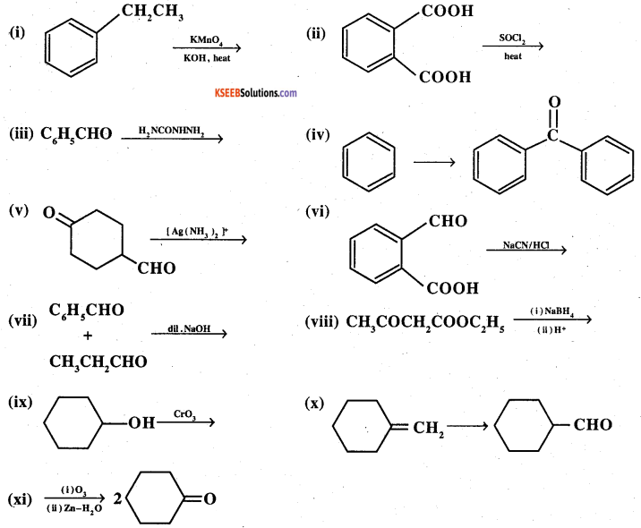 2nd PUC Chemistry Question Bank Chapter 12 Aldehydes, Ketones and Carboxylic Acids - 63