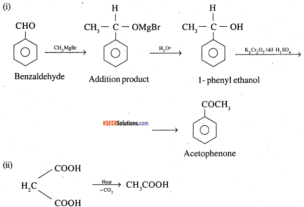 2nd PUC Chemistry Question Bank Chapter 12 Aldehydes, Ketones and Carboxylic Acids - 99