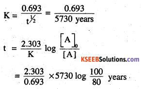 2nd PUC Chemistry Question Bank Chapter 4 Chemical Kinetics - 13