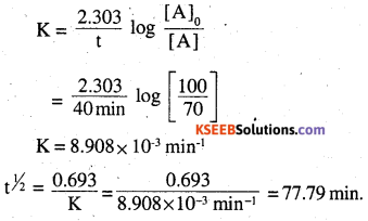 2nd PUC Chemistry Question Bank Chapter 4 Chemical Kinetics - 20