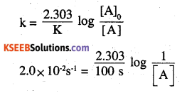 2nd PUC Chemistry Question Bank Chapter 4 Chemical Kinetics - 22