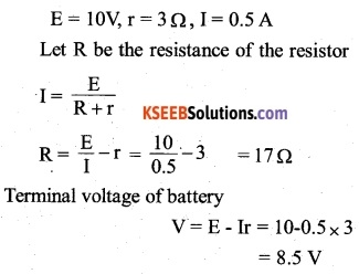 2nd PUC Physics Question Bank Chapter 3 Current Electricity 1