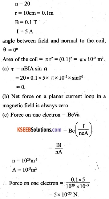 2nd PUC Physics Question Bank Chapter 4 Moving Charges and Magnetism 42