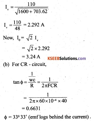 2nd PUC Physics Question Bank Chapter 7 Alternating Current 20