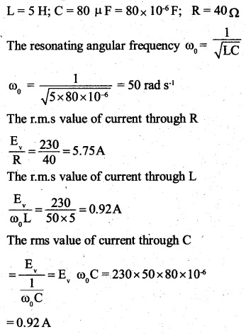 2nd PUC Physics Question Bank Chapter 7 Alternating Current 25