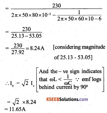 2nd PUC Physics Question Bank Chapter 7 Alternating Current 27