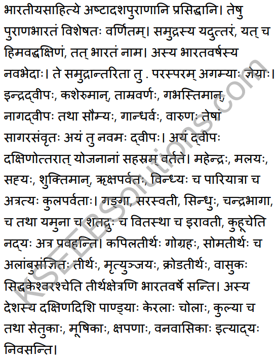 2nd PUC Sanskrit Textbook Answers Shevadhi Chapter 1 पुराणभारतम् 10