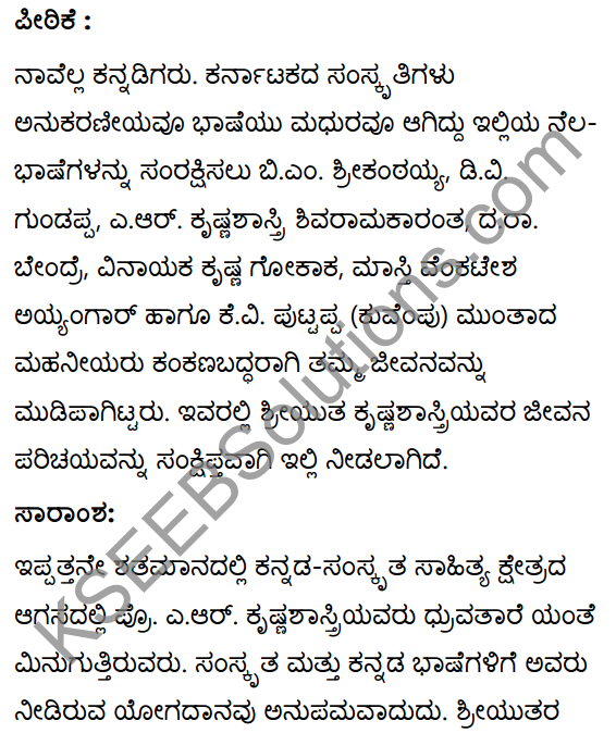 कृष्णशास्त्रीमहोदयः Summary in Kannada 29