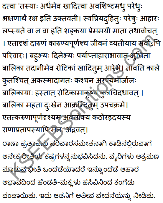 2nd PUC Sanskrit Textbook Answers Shevadhi Chapter 5 महाराणाप्रतापः 14