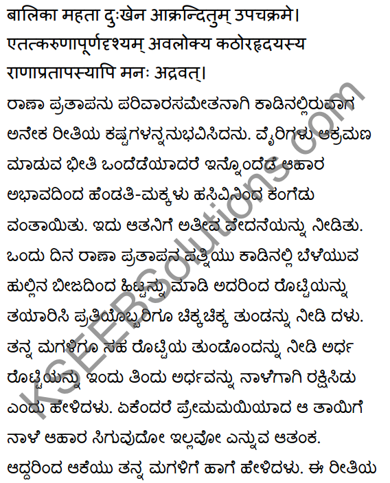 2nd PUC Sanskrit Textbook Answers Shevadhi Chapter 5 महाराणाप्रतापः 18