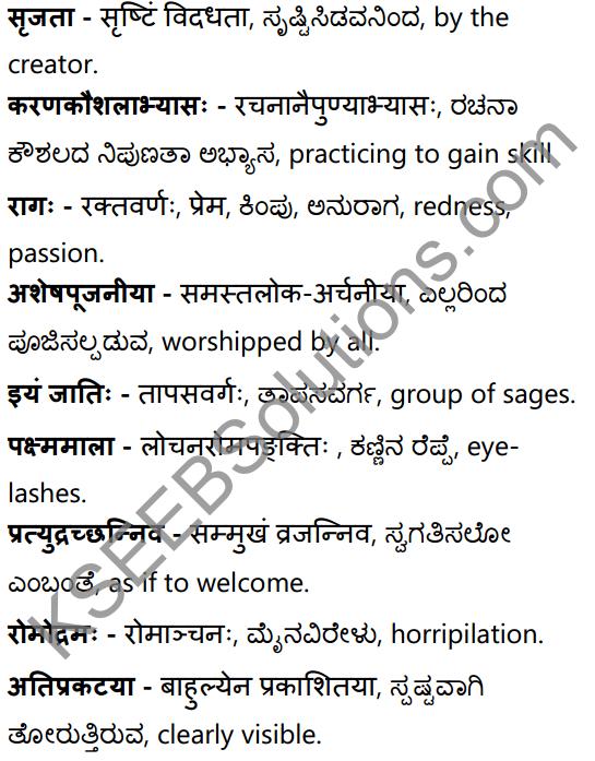 अनुरागोदयः Summary in Kannada and English 40