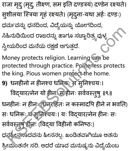 नीतिसारः Summary in Kannada and English 20