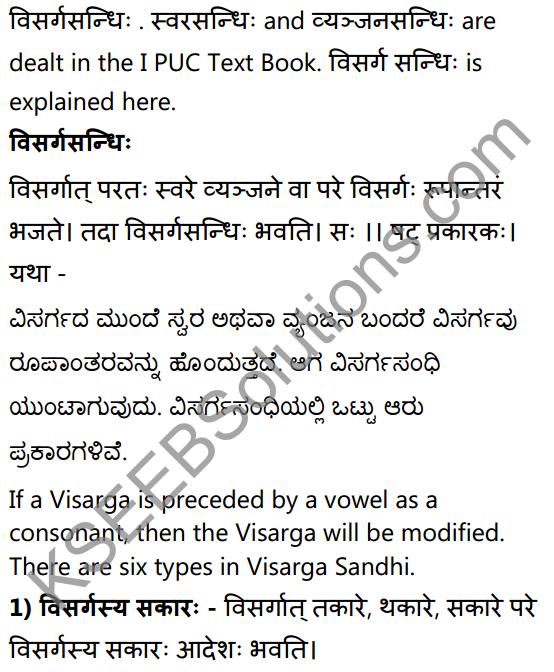 2nd PUC Sanskrit Textbook Answers Vyakaran सन्धिप्रकरणम् 2