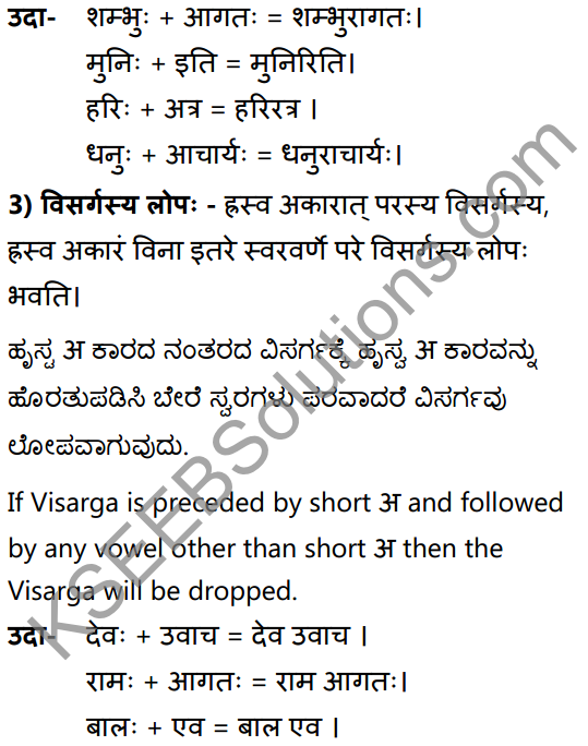 2nd PUC Sanskrit Textbook Answers Vyakaran सन्धिप्रकरणम् 4