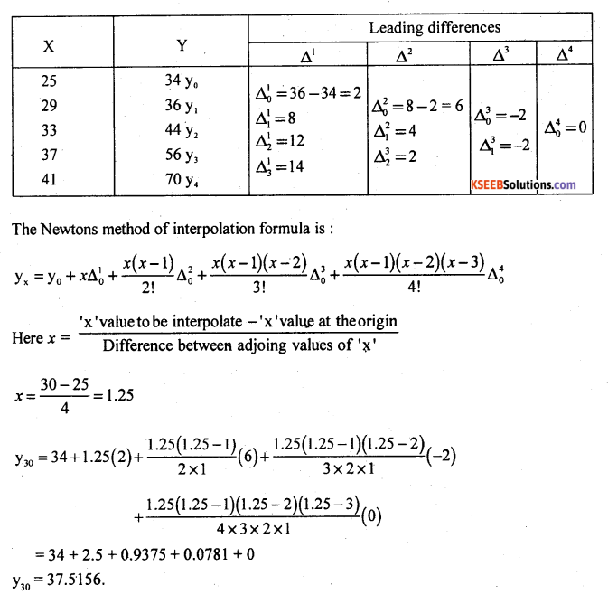 2nd PUC Statistics Model Question Paper 3 with Answers - 18