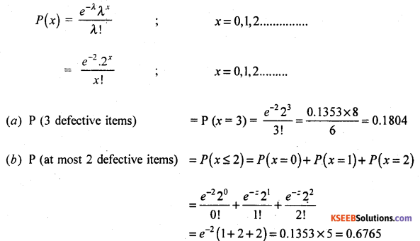 2nd PUC Statistics Model Question Paper 3 with Answers - 62
