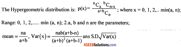 2nd PUC Statistics Question Bank Chapter 5 Theoretical Distribution - 2