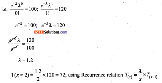 2nd PUC Statistics Question Bank Chapter 5 Theoretical Distribution - 26