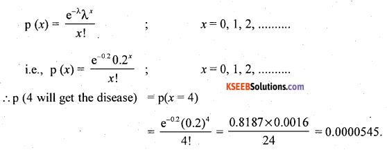 2nd PUC Statistics Question Bank Chapter 5 Theoretical Distribution - 48