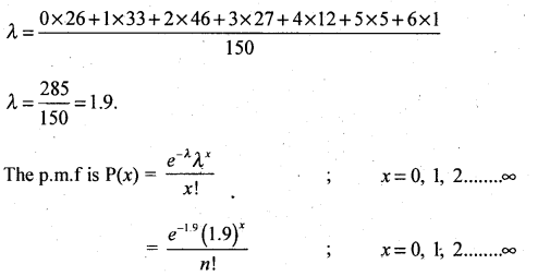 2nd PUC Statistics Question Bank Chapter 5 Theoretical Distribution - 63