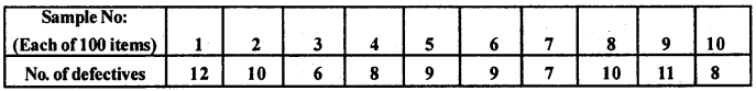 2nd PUC Statistics Question Bank Chapter 7 Statistical Quality Control - 18