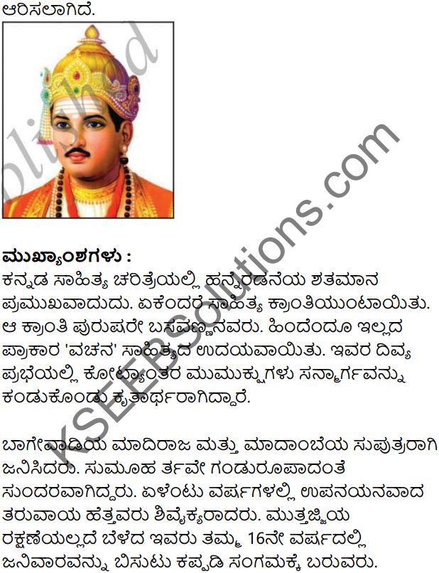 Basavannanavara Jeevana Darshana Summary in Kannada 2