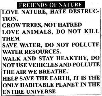KSEEB Solutions for Class 6 English Poem Chapter 6 Nature's Friend 1