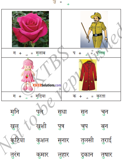 KSEEB Solutions for Class 6 Hindi Chapter 4 स्वर और उनकी मात्राएँ 4