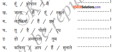 KSEEB Solutions for Class 6 Hindi Chapter 8 मैं, हम, तू, तुम, आप 10
