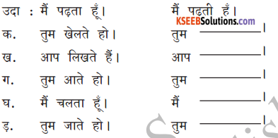 KSEEB Solutions for Class 6 Hindi Chapter 8 मैं, हम, तू, तुम, आप 9