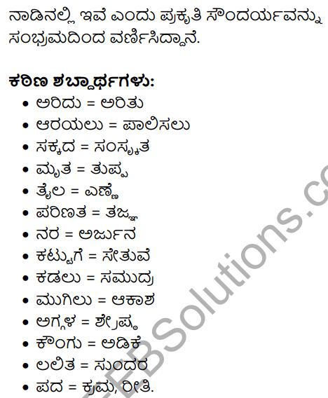 Kannada Naadu Nudi Summary in Kannada 5