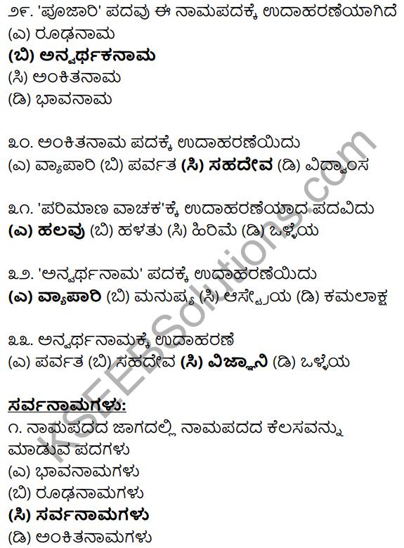 Karnataka SSLC Class 10 Siri Kannada Grammar Anvayika Vyakarana 12