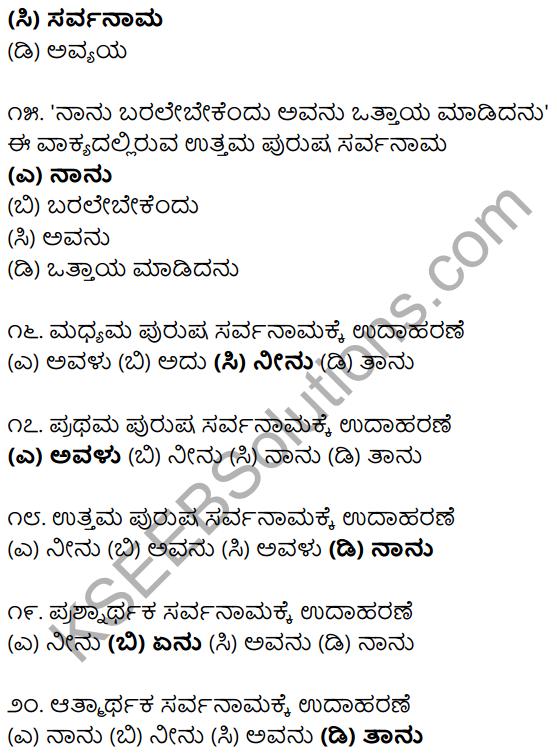 Karnataka SSLC Class 10 Siri Kannada Grammar Anvayika Vyakarana 15