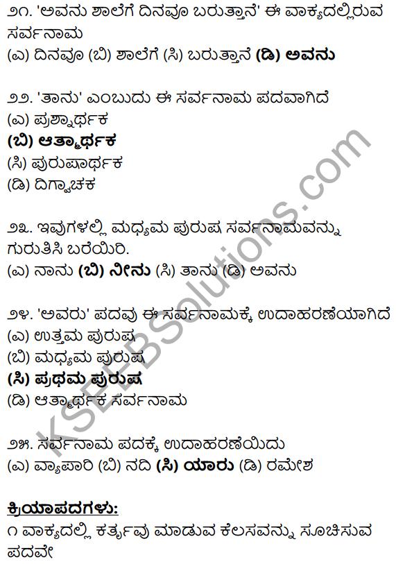 Karnataka SSLC Class 10 Siri Kannada Grammar Anvayika Vyakarana 16