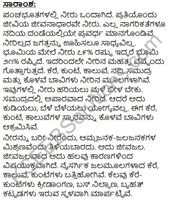 Neerina Mahatva Mattu Malinya Summary in Kannada 1