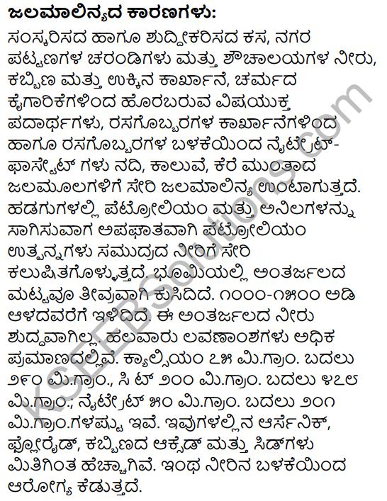 Neerina Mahatva Mattu Malinya Summary in Kannada 2