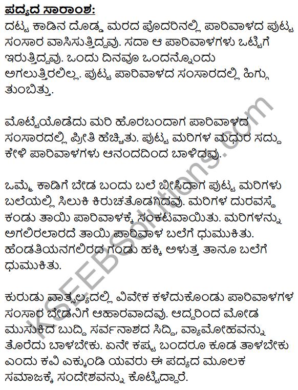 Parivala Summary in Kannada 1